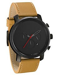 cheap -Men's Dress Watch Quartz Black / Brown Calendar / date / day Day Date Analog Casual Fashion - Black Black+Gloden Black / Yellow One Year Battery Life