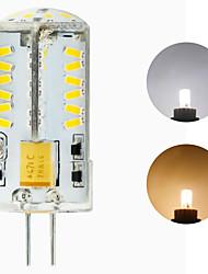 Недорогие -светодиодные лампы g4 12 В 24 В 57 светодиодов smd 3014 светодиодная хрустальная люстра лампочка переменного / постоянного тока белый теплый белый 1 шт.
