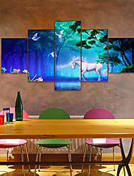 Недорогие -Amj горячие продажи единорог пентаграмма гостиная диван фон отделка стен холст для живописи бескаркасных живописи ядро