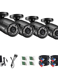 cheap -ZOSI 1080P HD AHD CVI TVI CVBS Analog 4-in-1 Outdoor Weatherproof IP67 Nightvision Black Bullet Camera H.265 Compression for CCTV SYSTEM DVR Kit
