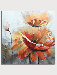 cheap -Hand Painted Canvas Oilpainting Abstract Flowers s by Knife Home Decoration with Frame Painting Ready to Hang