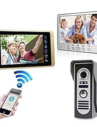 Недорогие -проводная&усилитель, усилитель; Беспроводная 7-дюймовая громкая связь 1024 * 600 пикселей, один на один, видеодомофон