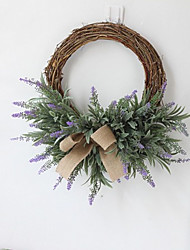 cheap -1 Piece Artificial Lavender Flowers Wreath Artificial Flower Garland European Wedding Imitation Flower Decor