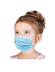 cheap -50 pcs Face Mask Disposable Protection Anti Dustproof Nonwoven Fabric CE Certified FDA ISO Certification High Quality Girls' Kids Blue