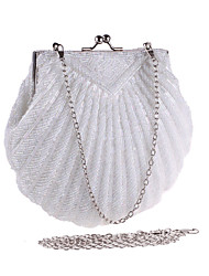 cheap -Women's Chain Polyester Evening Bag Solid Color Black / White