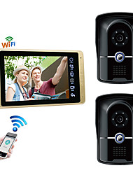 Недорогие -проводная&усилитель, усилитель; Беспроводная 7-дюймовая громкая связь 1024 * 600 пикселей, два к одному, видеодомофон