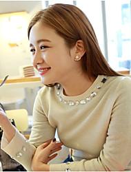 cheap -Women's Stud Earrings Classic Daisy Korean Earrings Jewelry Rose Gold / Gold / Silver For Party Festival 1pc