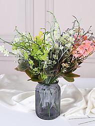 Недорогие -Моделирование пластиковый цветок поддельные трава фрезия отель балкон украшение цветок