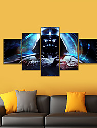 cheap -AMJ Hot Sale Anime Warrior Wulian Painting Living Room Sofa Background Wall Decoration Canvas Picture Frameless Core