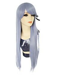 Недорогие -Dangan Ronpa Kyoko Kirigiri Косплэй парики Жен. Ассиметричная стрижка 33 дюймовый Термостойкое волокно Естественные прямые Фиолетовый Светло-лиловый Аниме