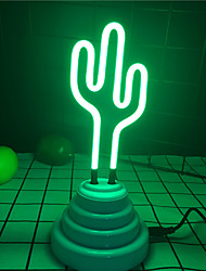 cheap -1X 3D Cactus Neon Sign LED Tube Lamp Real Glass Tube Neon Retro Lighting Power By USB Cable Lighting For Home Hotel Bar Coffee Shop Feature Decor Lighting