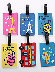 cheap -Airplane Mr and Mrs Luggage Tag Personalized Custom Made Unique Luggage Accessory Durable Convenient Leather Silica Gel 2pcs Yellow Red Blue Monogram Travel Accessory