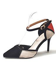cheap -Women's Heels Stiletto Heel Pointed Toe PU Casual Walking Shoes Spring & Summer Black / Blue