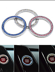 cheap -Car Interior One-Key Engine Start Stop Ignition Push Button Decorative Diamante Ring
