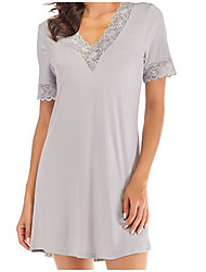 cheap -Women's Chemises & Gowns Nightwear Black Gray S M L