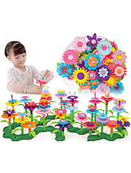 cheap -Pretend Play Garden Theme Family Flower Hand-made Decompression Toys Parent-Child Interaction Plastic Shell Child's Toddler All Toy Gift 46 pcs