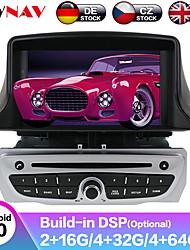 Недорогие -zwnav 7 дюймовый 1din 4 ГБ 64 ГБ Android 9 px5 / 6 dsp автомобильный DVD-плеер стерео автомобильный MP5-плеер автомобильный GPS-навигация магнитола для Renault Megane 3 / Renault Fluence 2009