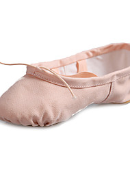 cheap -Women's / Girls' Ballet Shoes / Modern Shoes Canvas Loafer Flat Splicing Flat Heel Customizable Dance Shoes Pink / White / Red / Pink