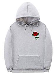 cheap -Men's Hoodie Print Hooded Casual Hoodies Sweatshirts  White Black Blue