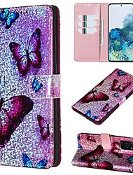 cheap -Case For Samsung Galaxy A50/Galaxy Note 10 / Galaxy Note 10 Plus Wallet / Card Holder / with Stand Full Body Cases Butterfly PU Leather For Galaxy S20/S20 Plus/S20 Ultra/A50S/A30S/A71
