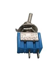 Недорогие -5шт MTS-101 вкл / выкл переменного тока 125 В 6a 2-контактный тумблер
