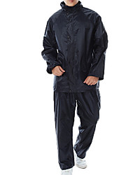 cheap -Protective Clothing Anti Dust And Droplet Men's Suit, Solid Colored Hooded Long Sleeve Polyester Navy Blue