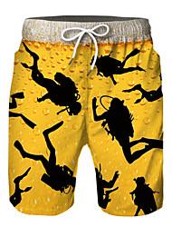 cheap -Kids Boys' Active Basic Print Color Block Drawstring Shorts Yellow