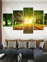 cheap -5 Panels Modern Canvas Prints Painting Home Decor Artwork Pictures DecorPrint Rolled Stretched Modern Art Prints Landscape Botanical 150*80 cm