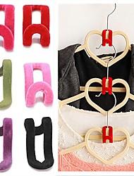 cheap -10Pcs/lot Multifunctional Flocking Mini Magic Hanging Hooks for Clothes Rack Hanger String Travel Clothing Organizer
