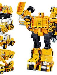 Недорогие -1:10 Металлический сплав Грузовик Кран Колесный скрепер Треки Игрушка Автомобиль Преобразования трансформируемый моделирование Взаимодействие родителей и детей Взрослые Игрушки на солнечных батареях