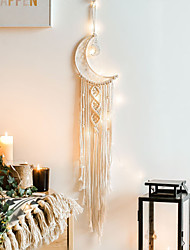 cheap -Handmade Woven Tapestry Moon Dream Catcher Nordic Decoration Gift Creative Gifts For Students
