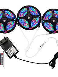 cheap -5m Flexible LED Strip Lights RGB Tiktok Lights Remote Controls 270 LEDs SMD3528 8mm 1 24Keys Remote Controller 1 x 2A Power Adapter 1 set RGB Change Christmas New Year's Indoor Decorative