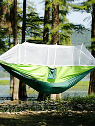 cheap -Camping Hammock with Mosquito Net Outdoor Portable Breathable Anti-Mosquito Ultra Light (UL) Wear Resistance Parachute Nylon with Carabiners and Tree Straps for 2 person Hunting Fishing Cycling / Bike