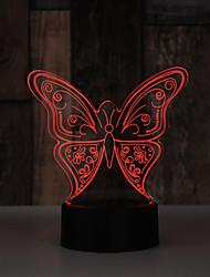Недорогие -настольная лампа бабочка с изображением животных светодиодная лампа сна с 3d лампой электронный ночной светильник для украшения спальни