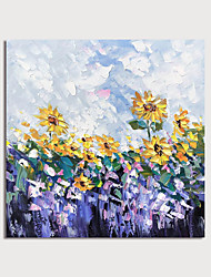 cheap -Hand Painted Canvas Oilpainting Abstract Flowers by Knife Home Decoration with Frame Painting Ready to Hang