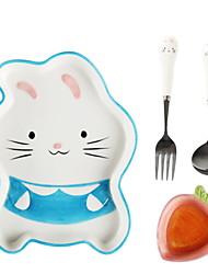 Недорогие -посуда 1 набор нового дизайна пасхального кролика с палочками из нержавеющей стали