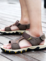 cheap -Men's Comfort Shoes Rubber Spring & Summer Sporty Sandals Walking Shoes Waterproof Black / Brown / Blue
