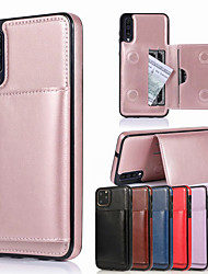 cheap -Retro PU Leather Card Holder Case for Samsung Galaxy A10 A20 A30 A40 A50 A70 A10S A30S A50S A70S A20E M10 S10 S10E S10Plus S9 S9 Plus S8 S8 Plus Note 10 Note 10 Plus