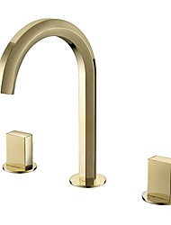 cheap -Bathroom Sink Faucet - Black / Chrome / Golden Basin Sink Mixer Tap Contemporary Luxury Hot and Cold Water Faucet