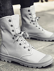 cheap -Men's Denim Fall & Winter Boots Mid-Calf Boots Khaki / Black / Gray