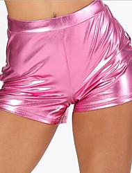 cheap -Women's Basic Slim Shorts Pants - Solid Colored Blue Yellow Blushing Pink M / L / XL