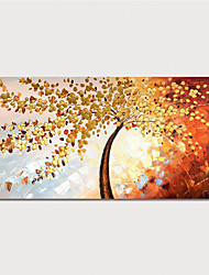 cheap -Hand Painted Canvas Oilpainting Abstract Tree by Knife Home Decoration with Frame Painting Ready to Hang