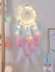 cheap -Dream Catcher Colorful Dreamcatchers Handmade Rainbow Traditional Feather Hanging Home Wall Decoration Kid Bedroom Ornament