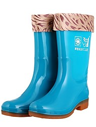 cheap -Men's PU Winter Boots Waterproof Mid-Calf Boots Green / Blue