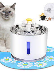 cheap -Interactive Bowls & Water Bottles Water Fountain Dog Cat Pet Toy 1pc Pet Friendly Flower Plastic Gift