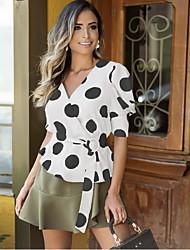 cheap -Women's Daily Blouse - Polka Dot Black