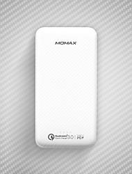 Недорогие -momax ipower minimal pd 10000 мАч для внешнего аккумулятора 5 В для аккумулятора 2,1 А / 1 А для зарядного устройства QC 3,0 светодиода