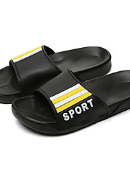 cheap -Men's Rubber Summer Casual Slippers & Flip-Flops Water Shoes Breathable Black / White / Black / Red / Black / Yellow