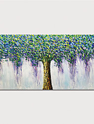cheap -Hand Painted Rolled Canvas Oil Painting  Abstract Tree Home Decoration  Painting Only