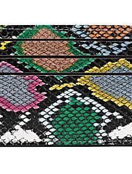 cheap -Unisex PU Leather Wallet Snakeskin Blue / Rainbow / Gray